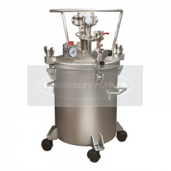 Paint Pressure Tank Stainless 20 Litre Air Driven Agitator